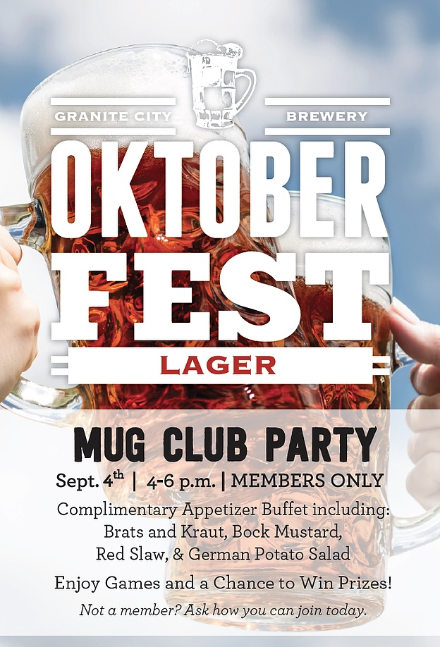 Mug Club Party Granite City