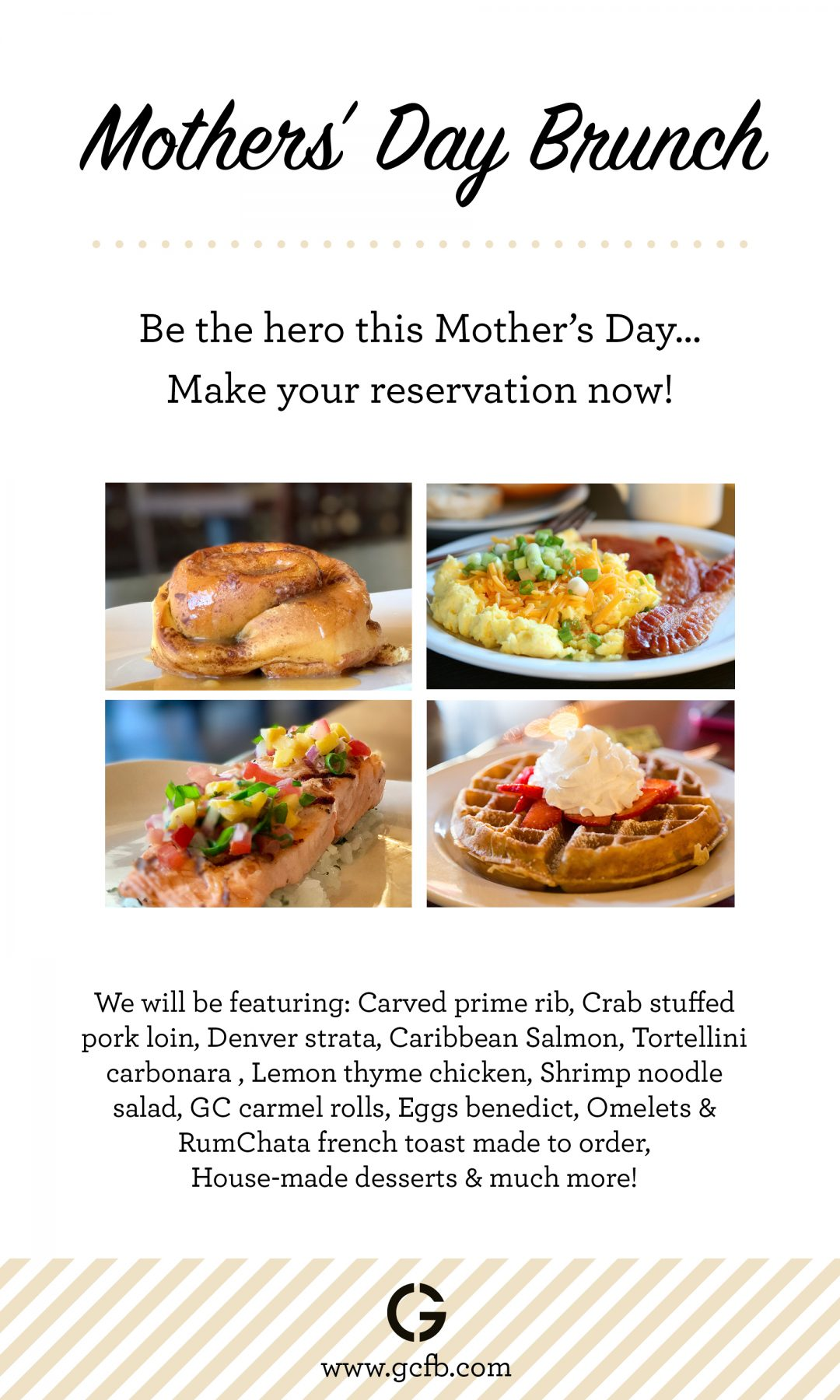 Mother's Day Brunch May 14, 2017