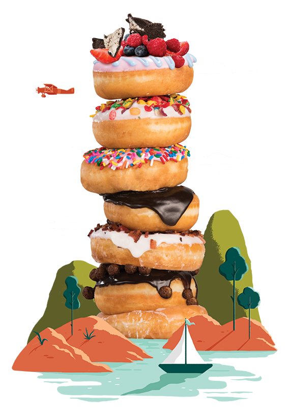Brunch Favorites Donut Tower