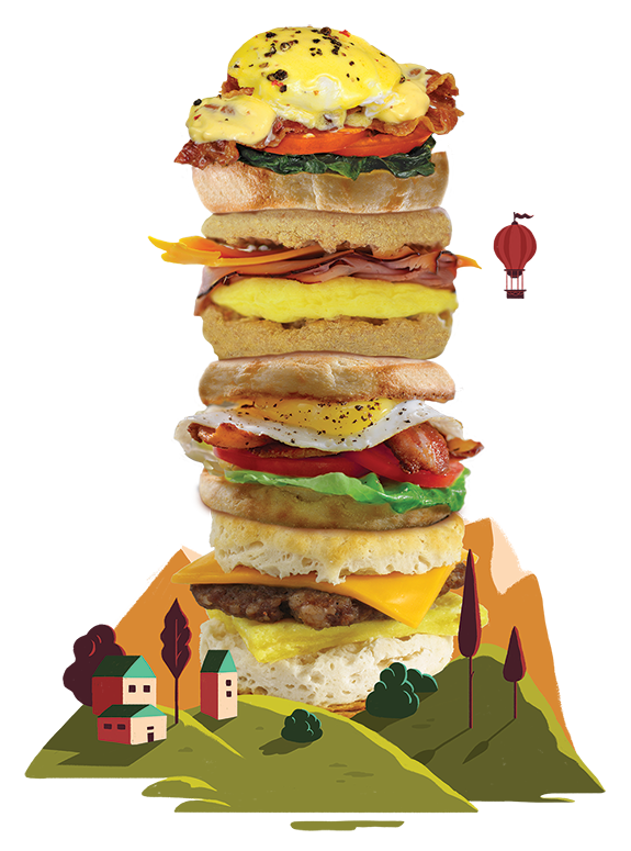 Brunch Favorites Egg Tower